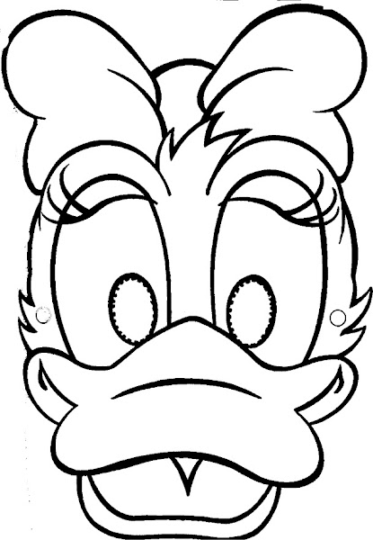 Daisy Duck Face Coloring Pages