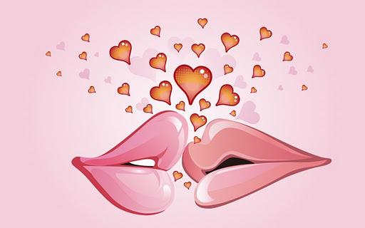 Imagini cu buze si inimioare
