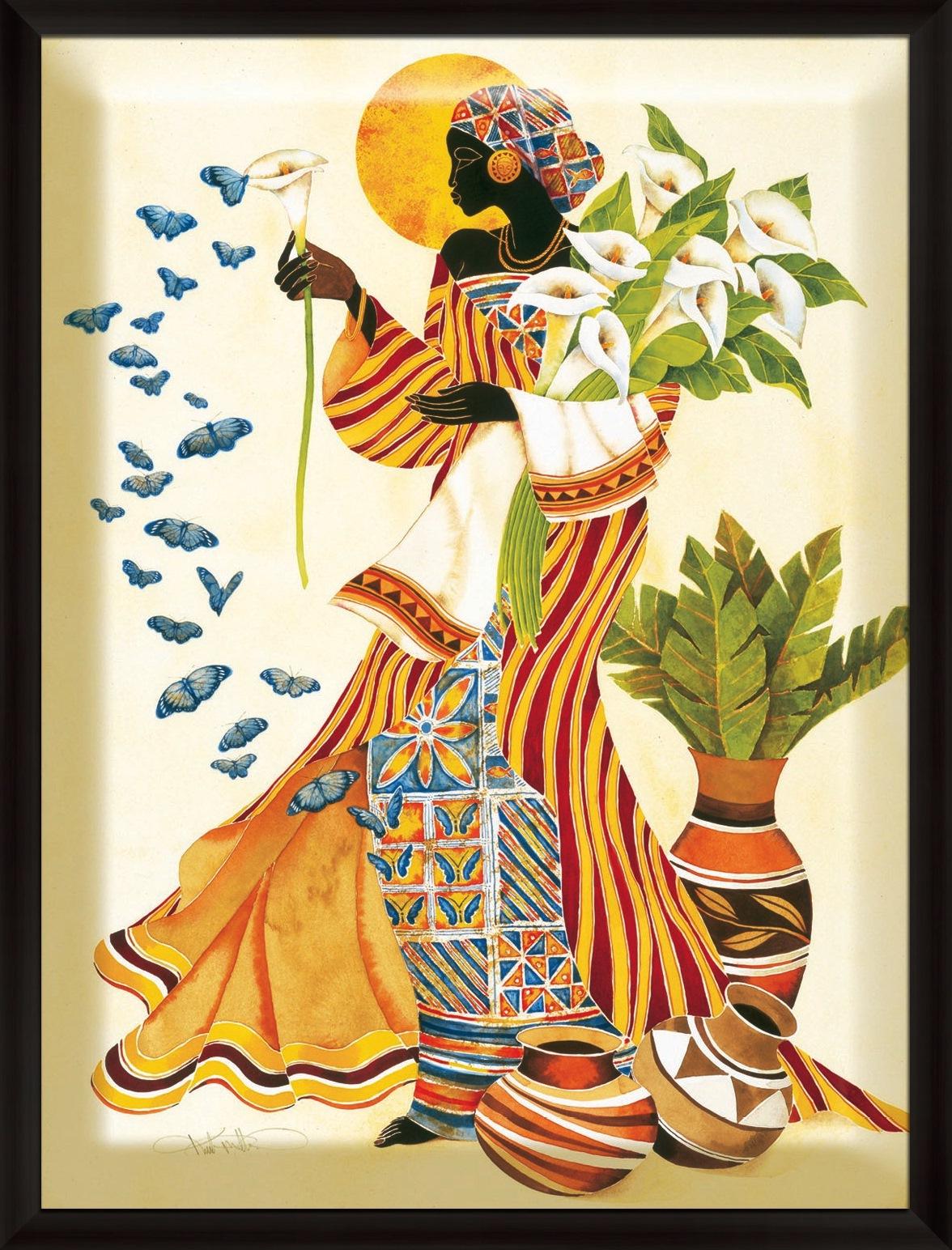 Cuadros modernos pinturas y dibujos pintura moderna cuadros negras africanas - Imagenes para cuadros ...