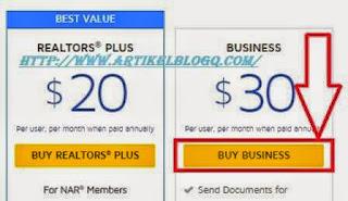Gambar cara membeli software transaksi digital di docusign.com
