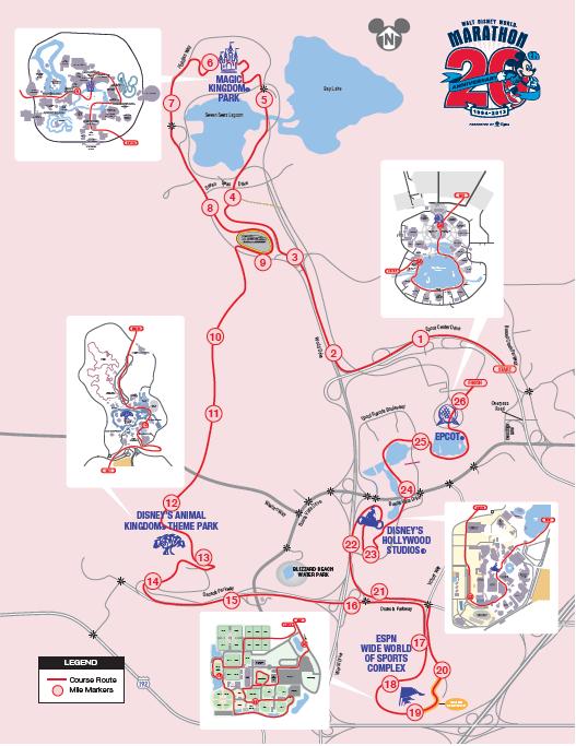 runDisney Race Maps | Mouse Runner on