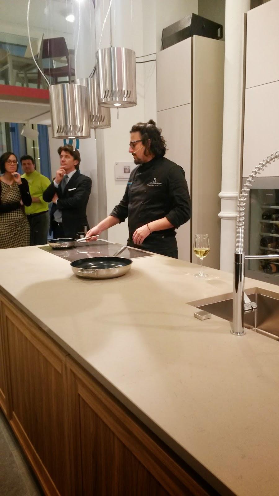 grandi chef alessandro borghese e Bruno Barbieri da veneta cucine Milano per il fuorisalone