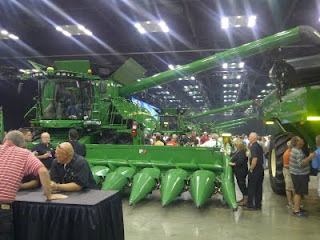 Dealers check out the new John Deere S Series combine