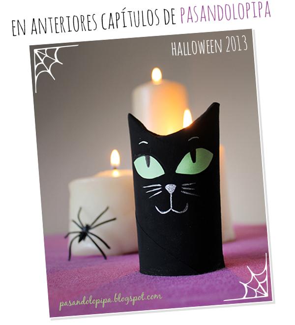 pasandolopipa | gato halloween con rollo de papel higiénico DiY
