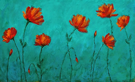 Candace french abstract art abstract flower art painting poppy abstract flower art painting poppy field by colorado abstract artist candace french mightylinksfo