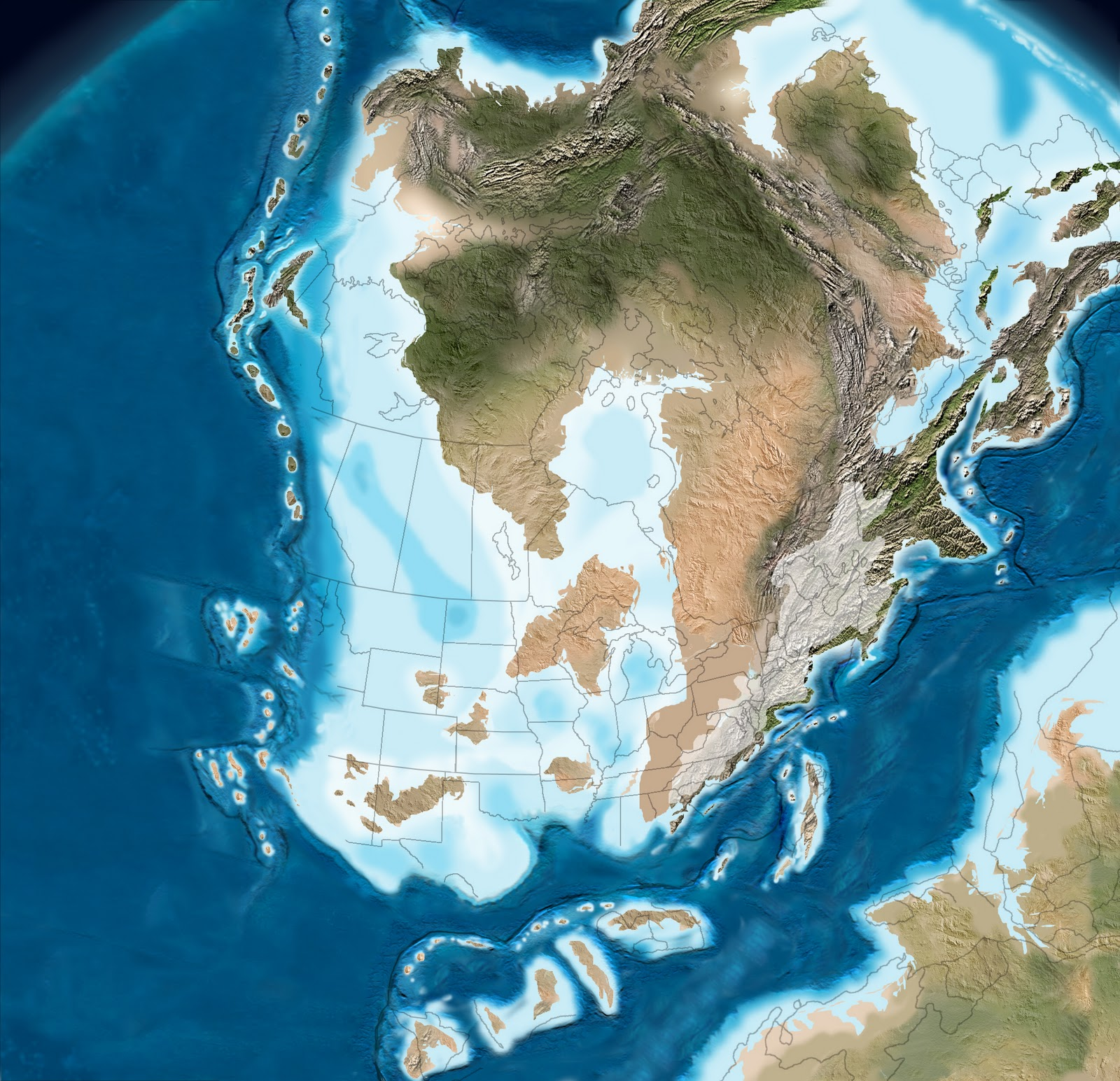 The Supercontinents Of Gondwana Visible In Lower Right And Laurussia Nascent North America