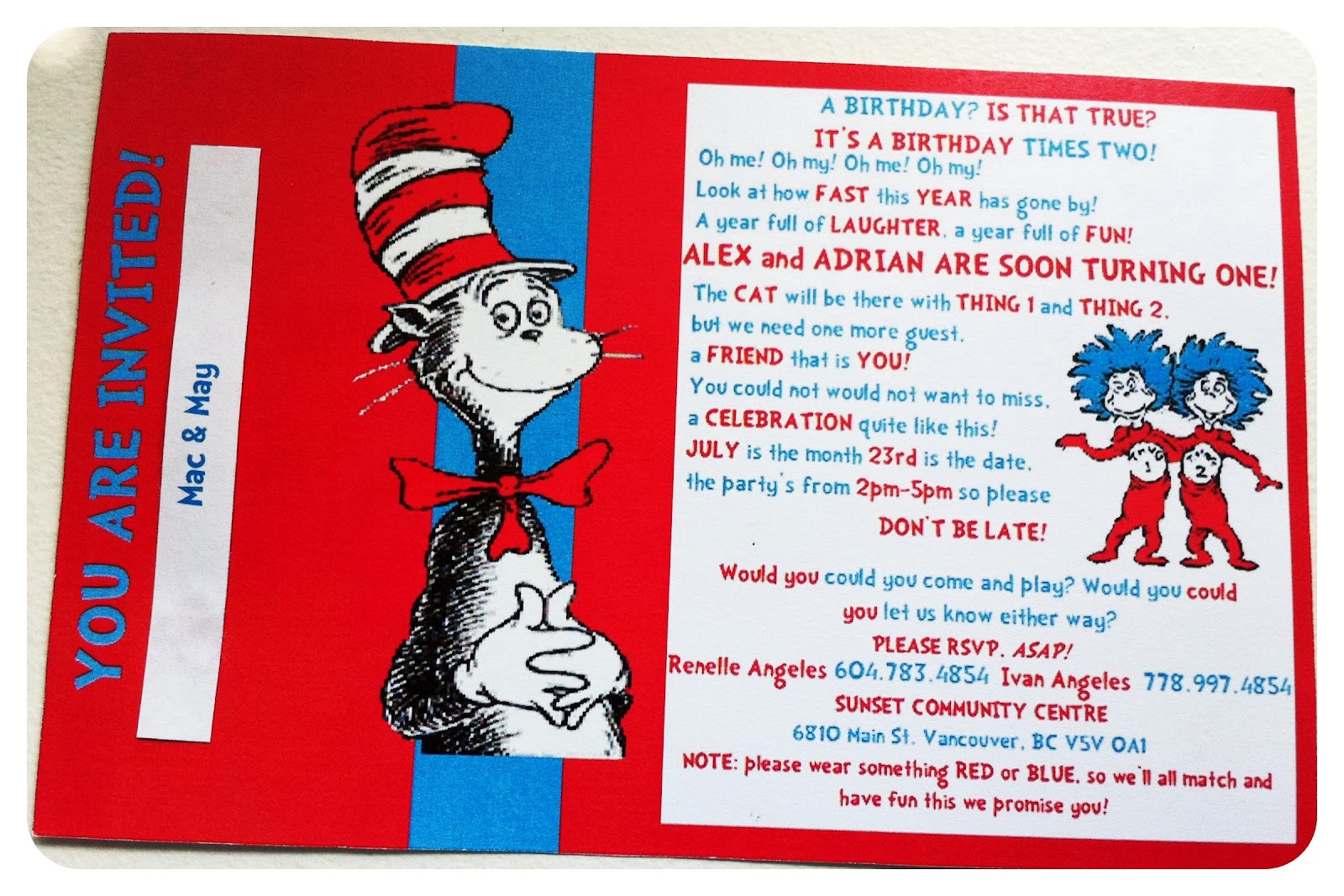 Charmed by Sweets: A Dr. Seuss Birthday Celebration