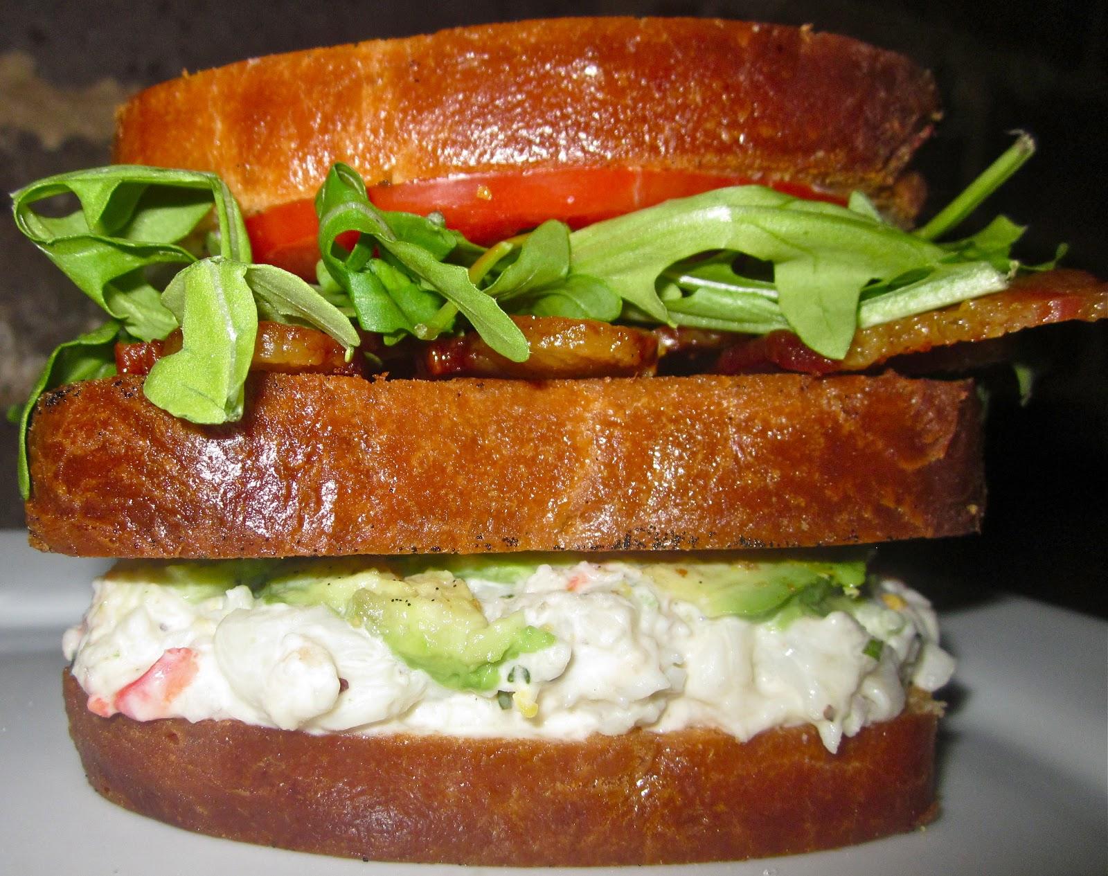 Haute + Heirloom: Lobster Club Sandwich with Vanilla Bean Butter Fried ...