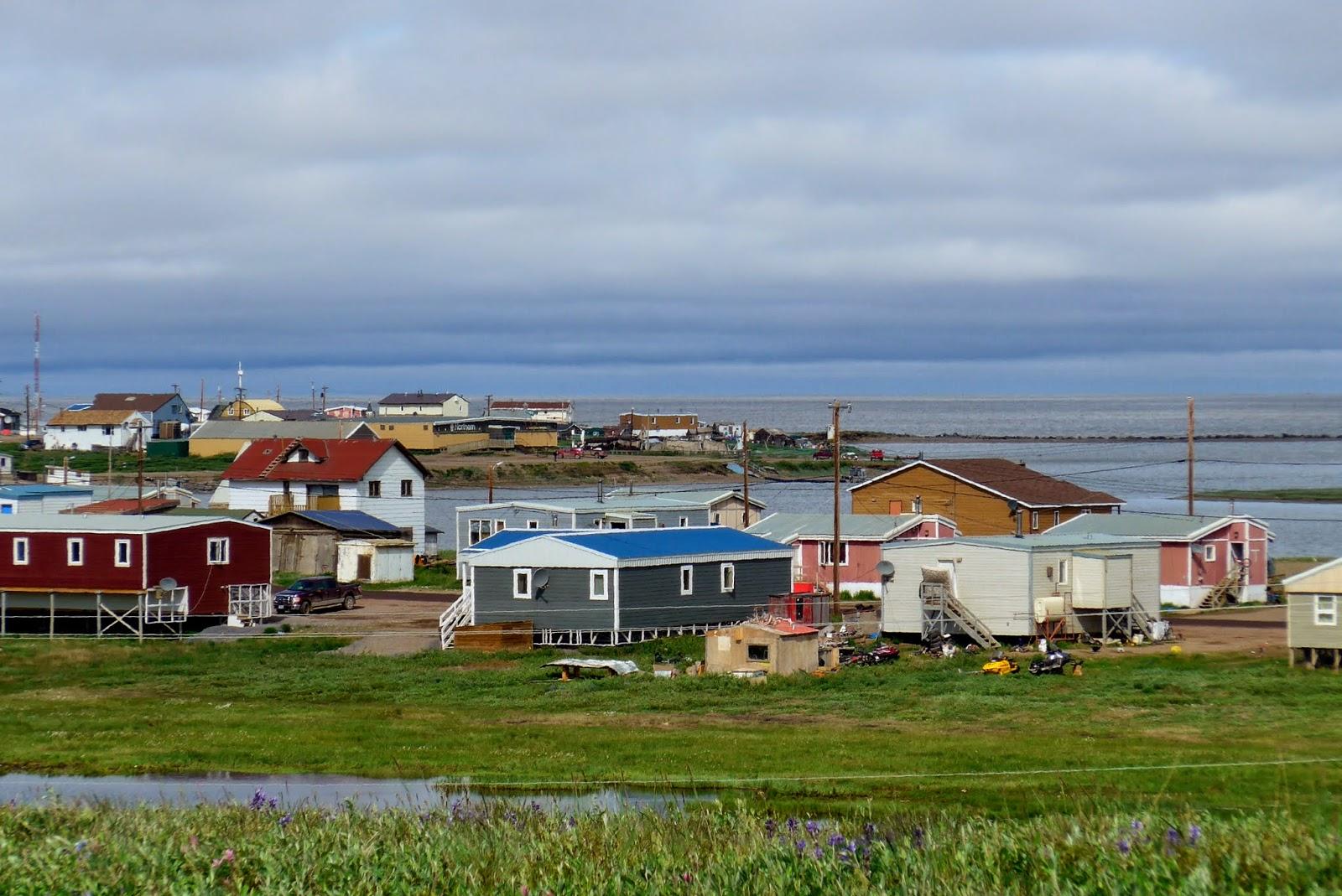 Village and ocean.
