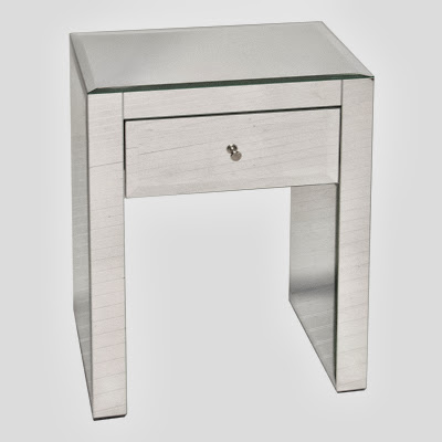Worlds Away Ginger Mirrored Nightstand
