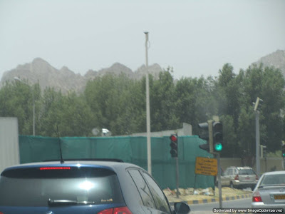 Wadi Kabir Bakhoor Roundabout destroyed May 2012 to build flyover.