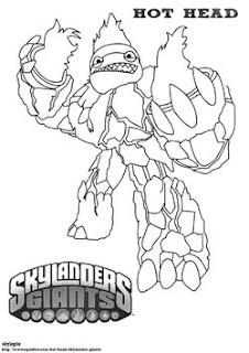 skylanders gian hot coloring pages