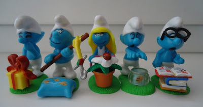 Smurf figures collection lot x 5 SMURFS - by PEYO SCHLEICH