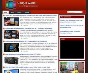 Gadget World Blogger Template