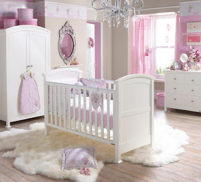 Elegant Classic Baby Room White Furniture and Soft Pink Accessories Ideas