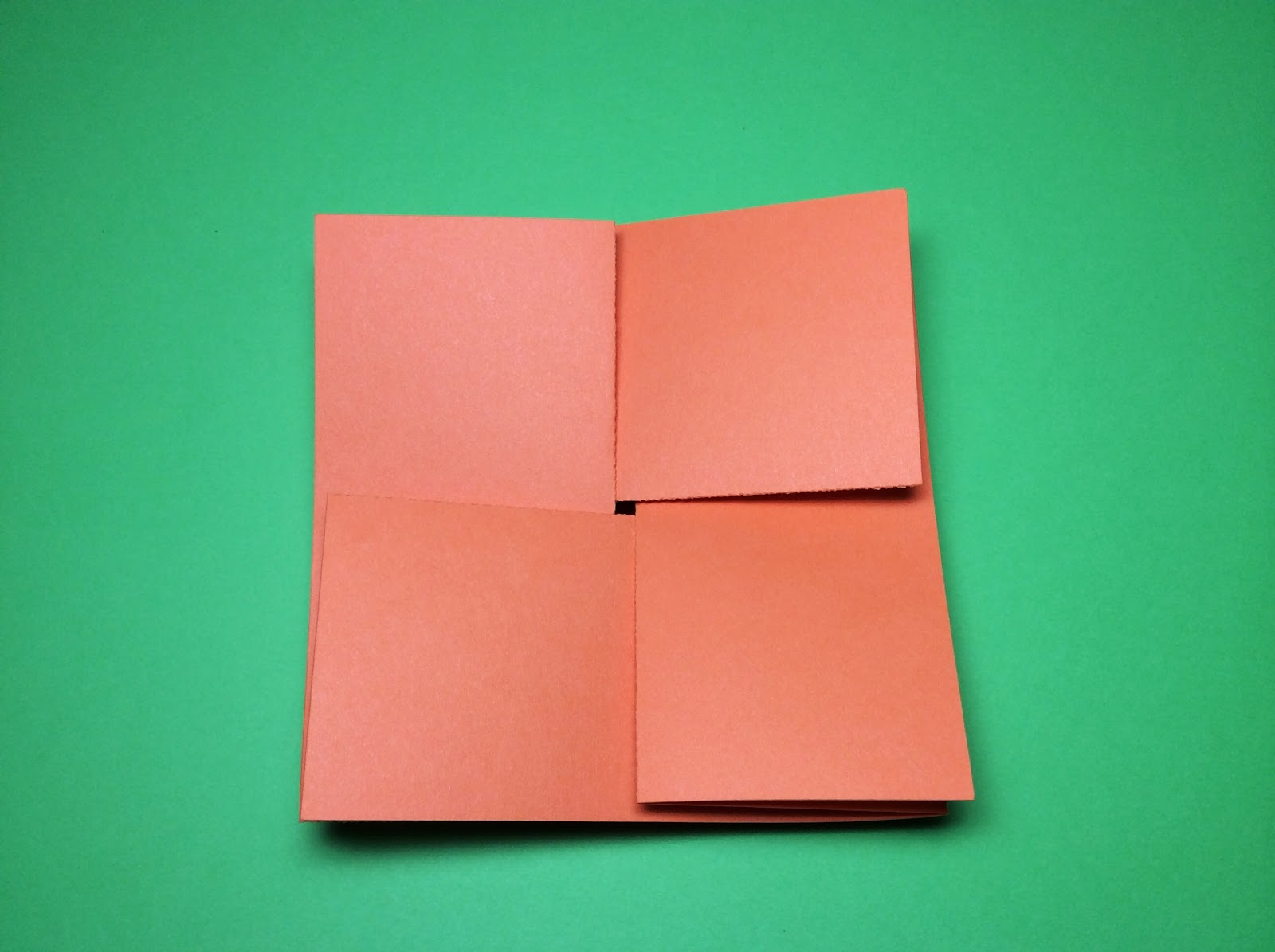 Papercrafts And Other Fun Things An Origami Square Card With A