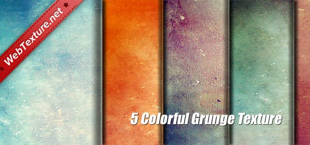 カラフルに彩色したキャンバス地風の無料グランジテクスチャー画像セット
