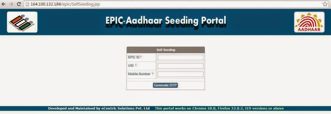 Online Voter Registration and aadhar card linking