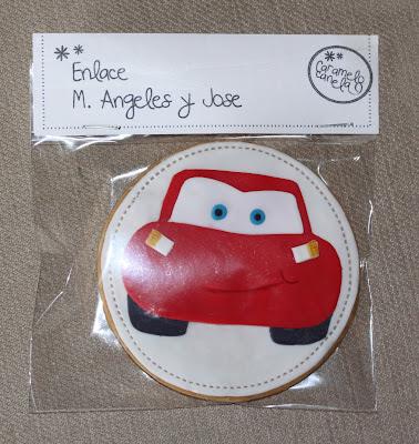 Galletas decoradas, galleta cars, rayo macqueen, cars, cumpleaños infantil, detalle boda