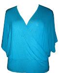 codigo 2x965   Blusas tranpassada  plus tenho na cor lilás ,Preta ,branca vermelha