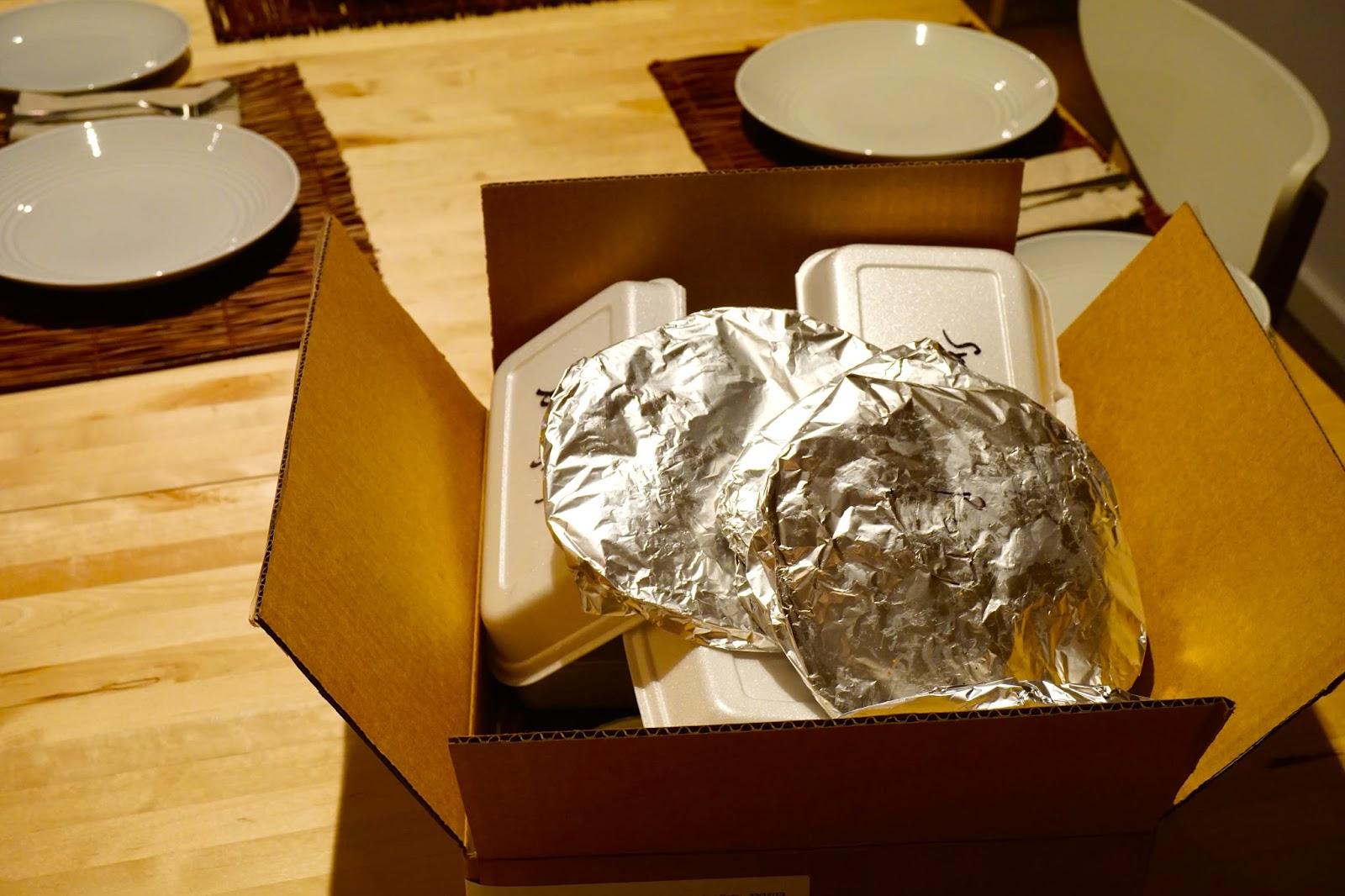 Menulog takeaway food order arrived
