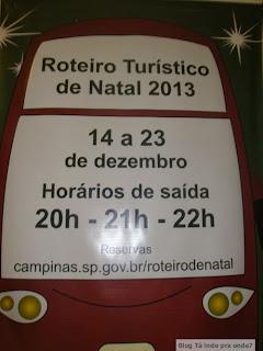 cartaz Roteiro Turístico de Natal