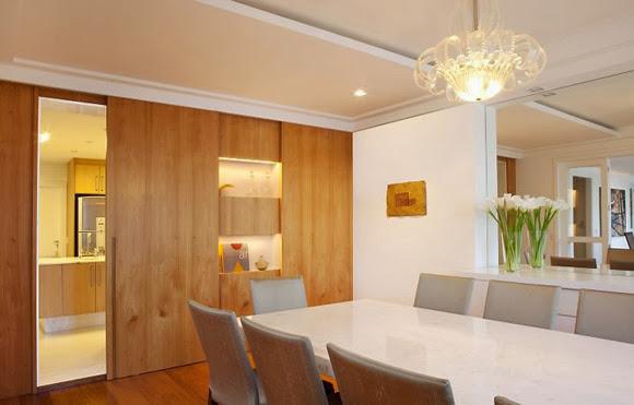 Construindo minha casa clean portas de correr e pain is for Casa moderna 4 ambientes