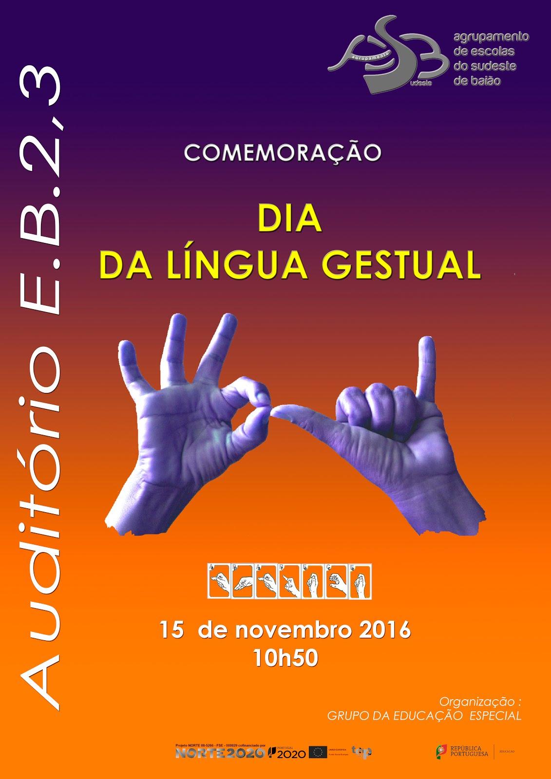 Dia da Língua Gestual - 15/11/2016