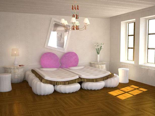 Dise o de cama muy moderna ideas para decorar dise ar y - Cama moderna diseno ...