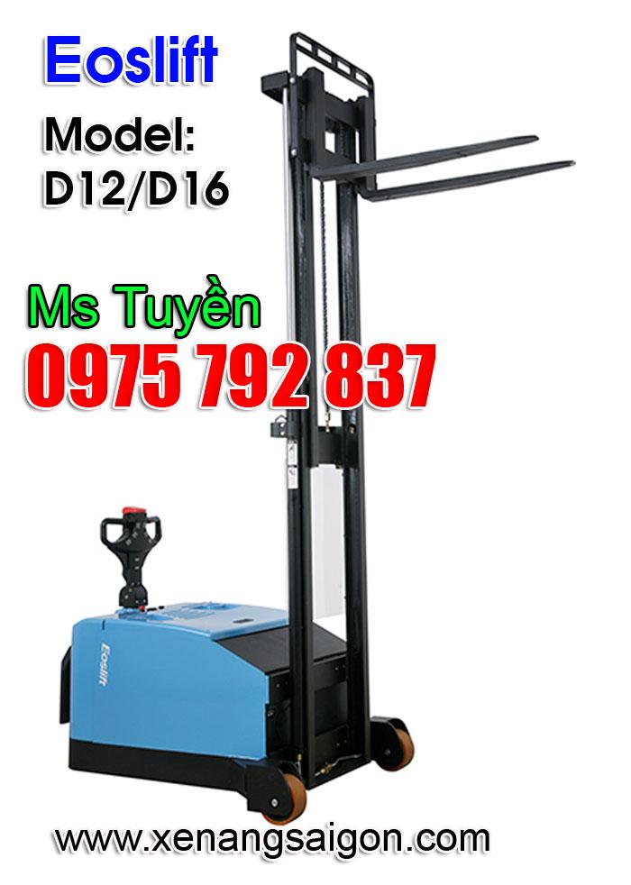 Cung cấp Xe nâng điện đứng lái 1.2 tấn - 1.6 tấn D1233, D1645 Eoslift (Ms Tuyền 0975 792 837)
