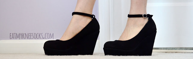 Wedges combine style and comfort, and these faux-suede black pump-style wedges from Milanoo are pretty yet comfortable.