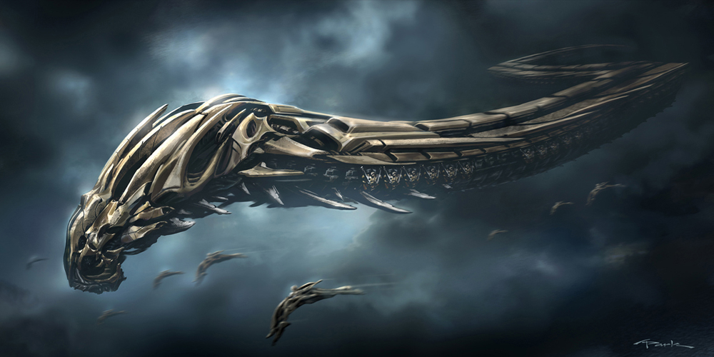 """Marvel's The Avengers (2012) """"Chitauri alien jumbo creatures"""" by Andy ..."""