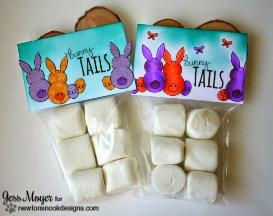 Bunny Tail Treat Bags by Jess Moyer | Bunny Hop Stamp set by Newton's Nook Designs