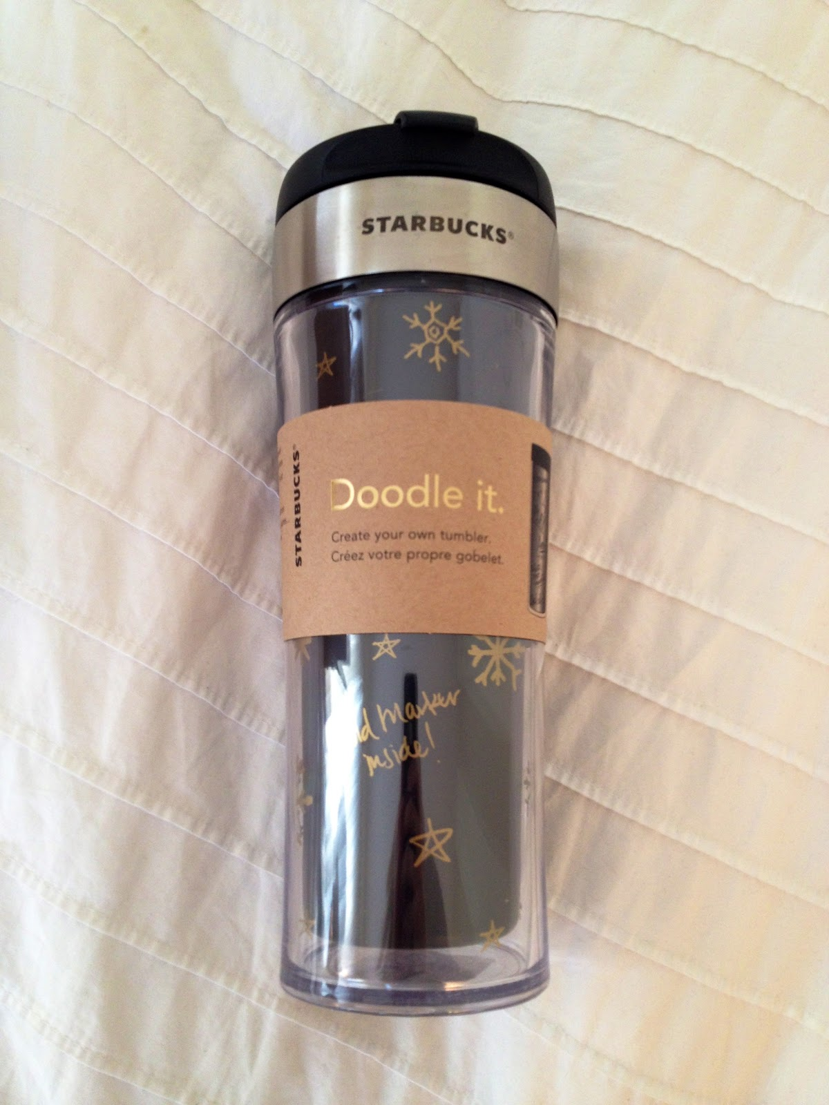 Emma Courtney Diy Starbucks Sparkle Travel Mug