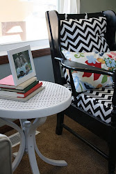 first DIY, chevron chair