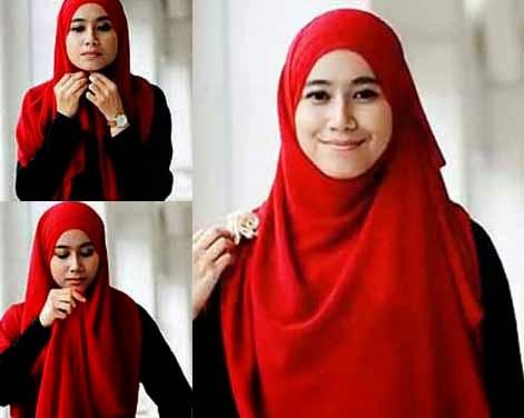Cara memakai jilbab sesuai syar'i