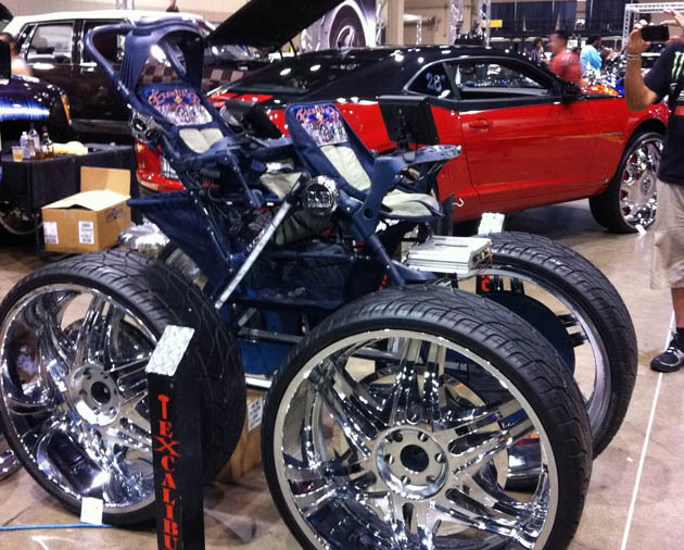 Ford Shelby Mustang Gt500 Interesting Customization A Baby Stroller Sitting On 28s