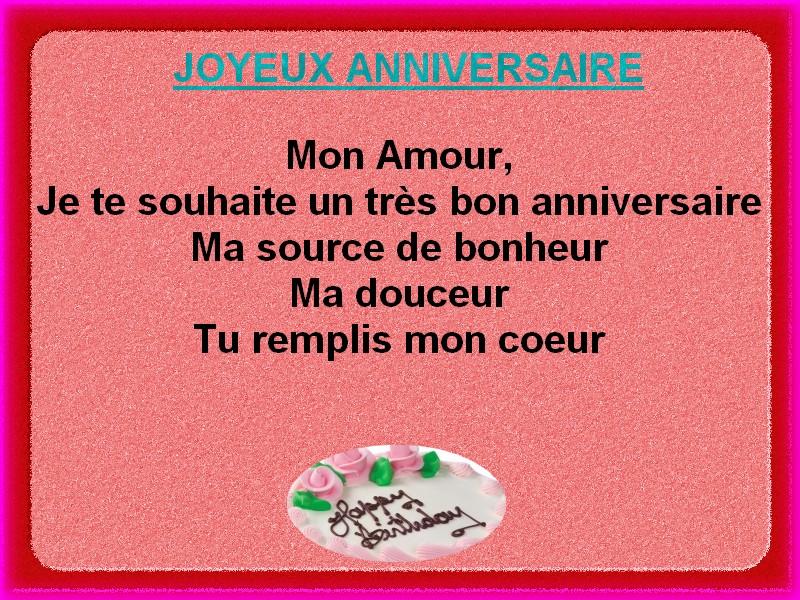 Extrêmement carte joyeux anniversaire ~ Poème et Textes d'amour RF53