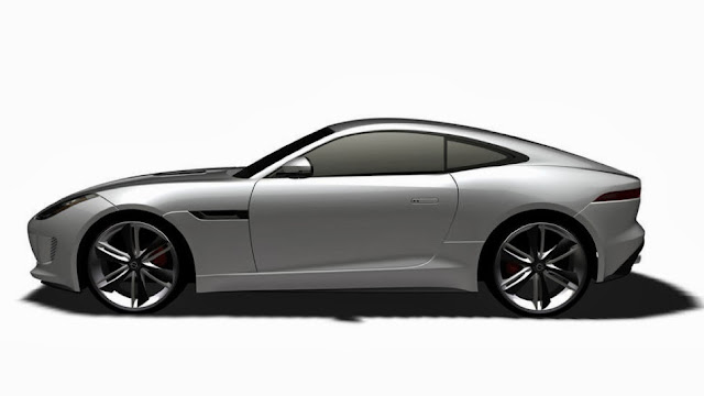 jaguar f-type coupe side