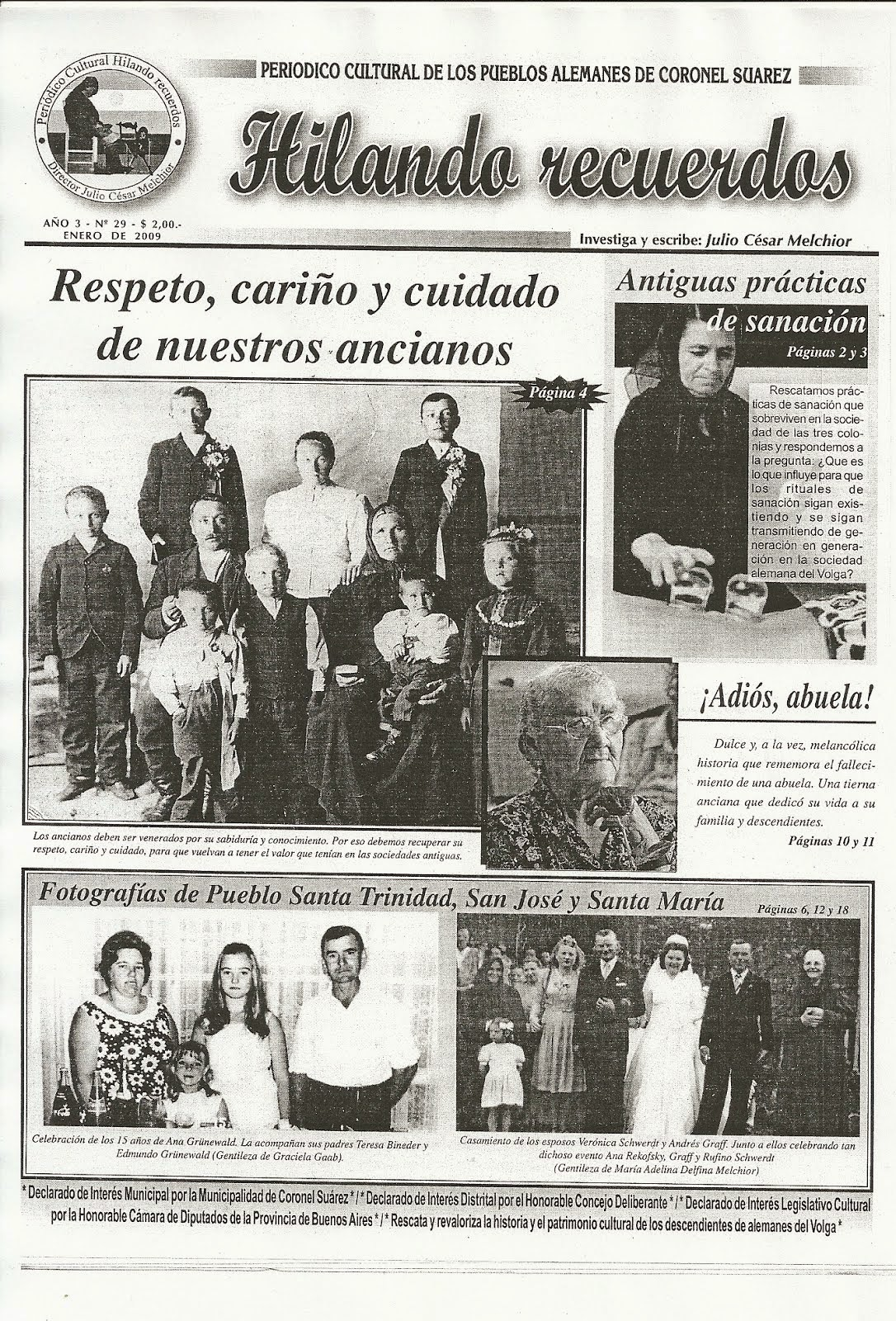 Tapa Periódico Cultural Hilando Recuerdos