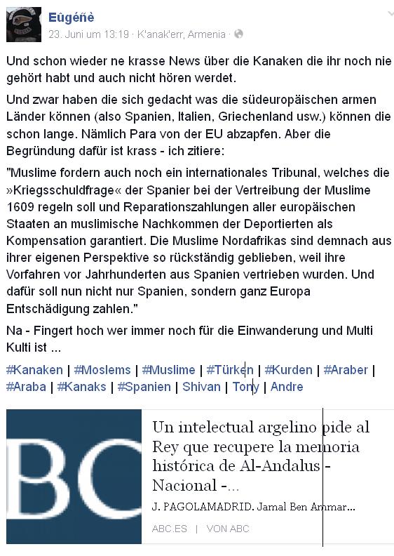 """Nach den Juden, jetzt die Moslems in Sachen """"Reparationszahlungen"""""""
