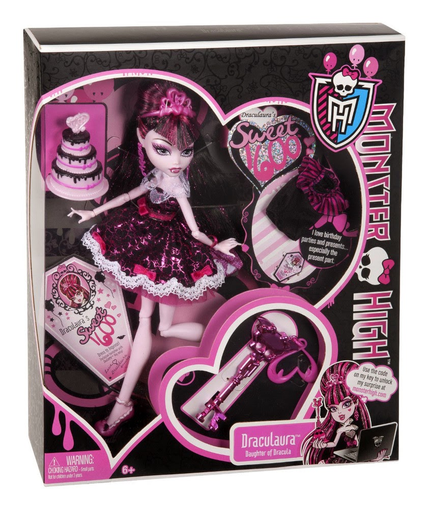 TOYS - Muñeca Draculaura : Monster High  Colección Sweet 1600 // 1600 Cumplespantos  Juguete Oficial | Mattel W9189 | A partir de 6 años