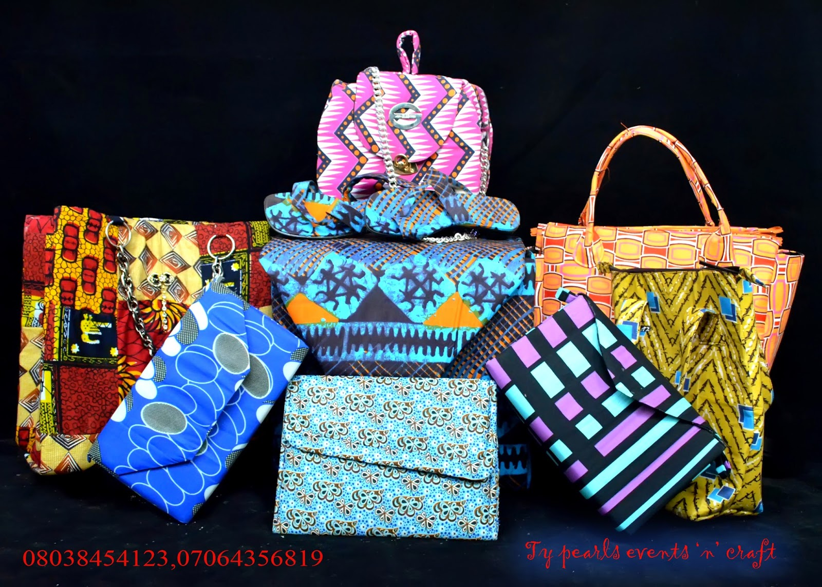 Ankara crafts-typearls
