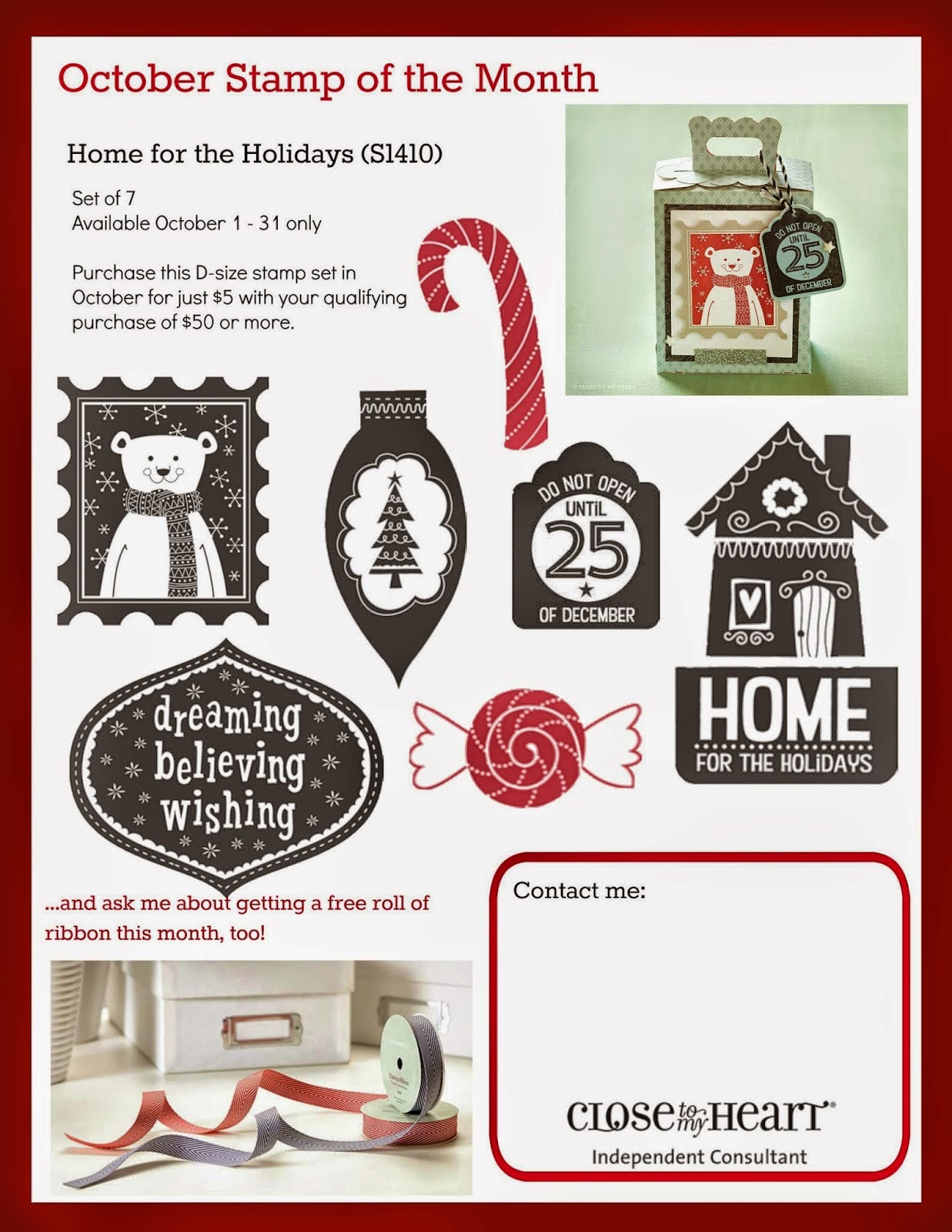 CTMH SOTM Holiday Stamp Set