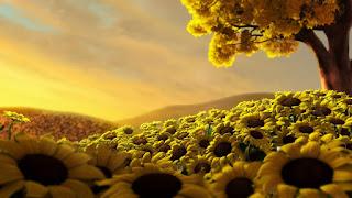 gambar animasi 3d menarik flower
