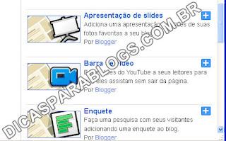 Colocar Gadget com Slides das Postagens Recentes do Blog