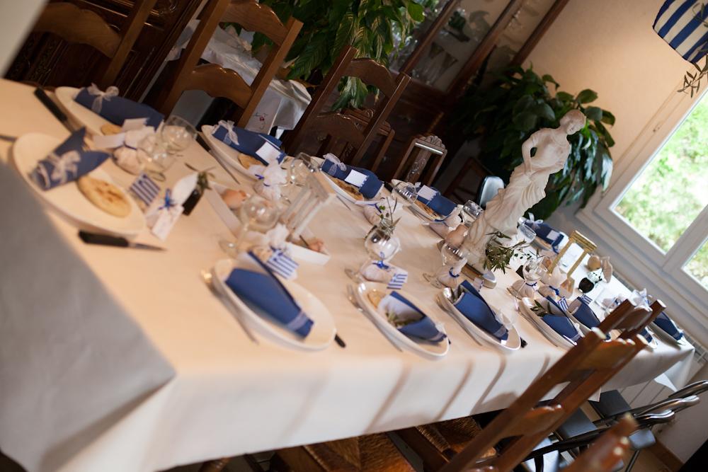 Ma déco passe à table...: Repas grec