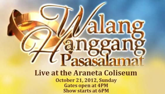 Walang Hanggang Pasasalamat: 'Walang Hanggan' Concert at the Smart Araneta Coliseum this October 21