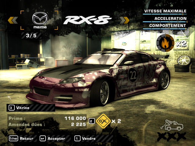ack seriais : Serial need for speed most wanted
