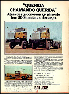 caminhões Kenworth; kenworth trucks; brazilian advertising cars in the 70. os anos 70. história da década de 70; Brazil in the 70s; propaganda carros anos 70; Oswaldo Hernandez;